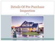 Details Of Pre Purchase Inspection