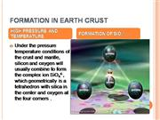 FORMATION IN EARTH CRUST
