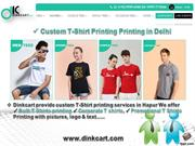 T-shirt Printing in Delhi - https://www.dinkcart.com/