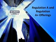 Regulation A and Regulation A+ Offerings