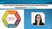 Seven Quality Management Principles behind ISO9001 requirements