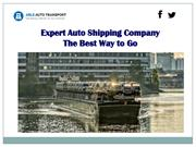 Expert Auto Shipping Company - The Best Way to Go