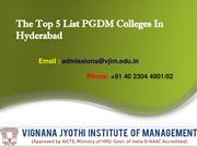 The Top 5 List PGDM Colleges In Hyderabad-converted
