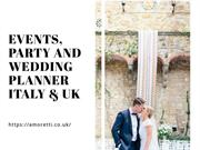 Top Event Planner Italy and London – Free Consultation