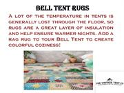 Bell Tent Rugs- The Vinatge Tent Company