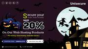 Unisecure - Halloween Day Special Offer on Web Hosting
