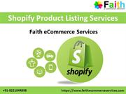 Shopify Product Listing Services