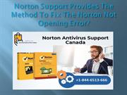 How To Fix The Norton Not Opening Error?