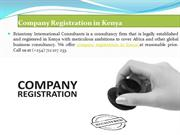 CR 12, NGO, Foreign Company Registration in Kenya