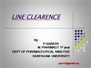 LINE CLEARENCE AND RECONCILIATION OF LAB