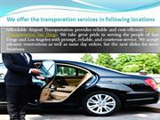 Top Destinations Where We offer Affordable Transporation Services