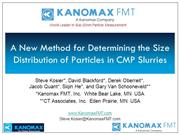 ICPT CMPUG 2018 Kanomax FMT A New Method for Determining the Size Dist