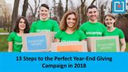 13 Steps to the Perfect Year-End Giving Campaign in 2018