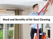 Need and Benefits of Air Duct Cleaning
