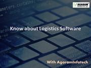 Know about Logistics Software