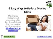 House Removalist | Reduce Moving Costs