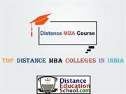Distance MBA Course in India