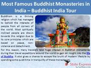 Most Famous Buddhist Monasteries in India