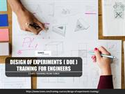 Design of Experiments Training DOE Training for Engineers