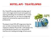 Hotel API - Travelopro