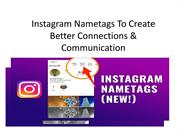 Instagram Nametags To Create Better Connections & Communication-India