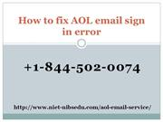 AOL email sign in error 1844-502-0074 | AOL Customer Care Phone Number