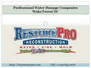 Professional Water Damage Companies Wake Forest NC