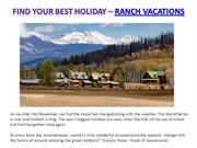 Find your best Ranch Vacations