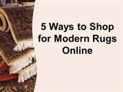 The Red Carpet Australia -5 Ways to Shop for Modern Rugs Online