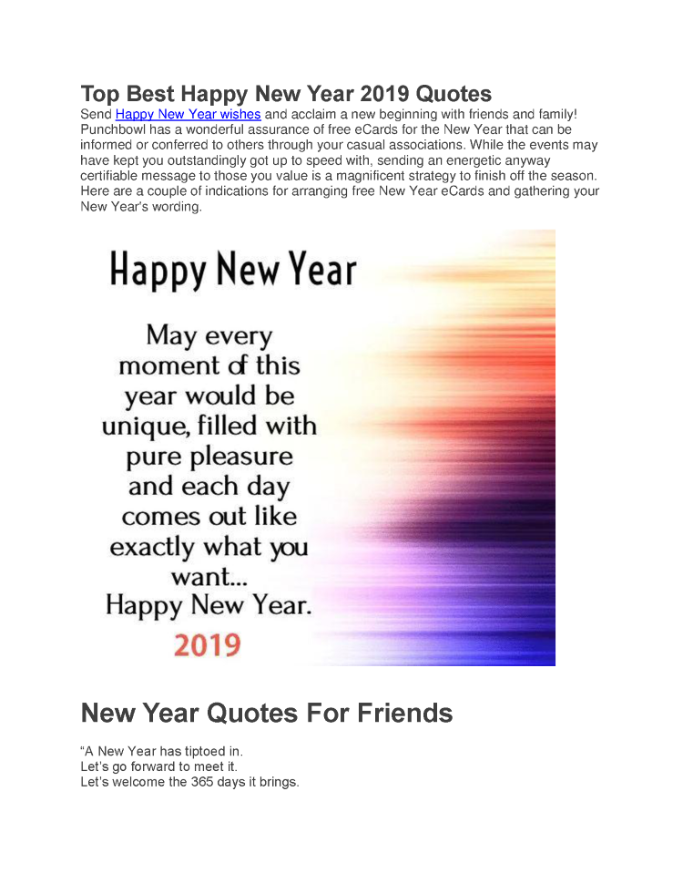 Top Best Happy New Year 2019 Quotes Authorstream