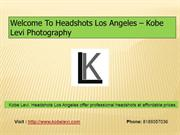 Welcome To Headshots Los Angeles- Kobe Levi Photography