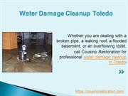 Water Damage Cleanup Toledo