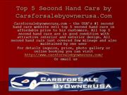 Top 5 Second Hand Cars
