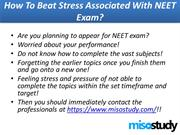 How To Beat Stress Associated With NEET Exam
