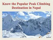 Know the Popular Peak Climbing Destination in Nepal