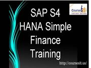 SAP S/4HANA Simple Finance Certification Training |Coursesit.US