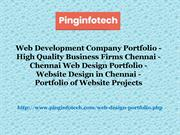 Web Development Company Portfolio, High Quality Business Firms Chennai