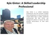 Kyle Ginter: A Skilled Leadership Professional