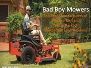 Bad Boy Mowers - Best Rated Lawn Mowers