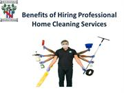 Benefits of Hiring Professional Home Cleaning Services