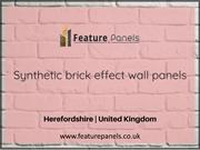 Best Synthetic brick effect wall panels | Feature Panels, UK
