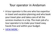 Airline Ticket Booking Agent in Andaman