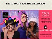 Photo Booth For Hire Melbourne