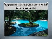 Cinnamon Wild Yala- A Quick Vacation Gateway to All the wild Life