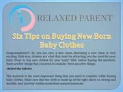 Six Tips on Buying New Born Baby Clothes
