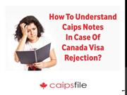 How to understand CAIPS notes in case of