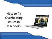 How to fix Overheating issues in Macbook?