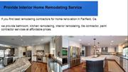 Provide Interior Home Remodeling Service