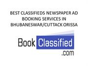 Best classified newspaper ad booking services in bhubaneswar orissa