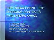 Risk Management-Challenges ahead30-03